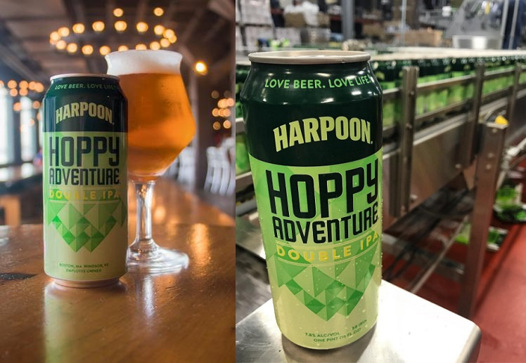 Harpoon Brewery Launches Hoppy Adventure DIPA in 16 oz  Cans