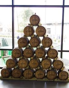 Rye Whiskey barrels.