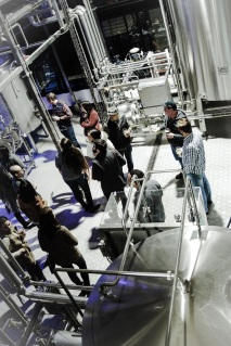 For perspective, this photo of the tour group was taken from the brew deck of the main brewhouse.