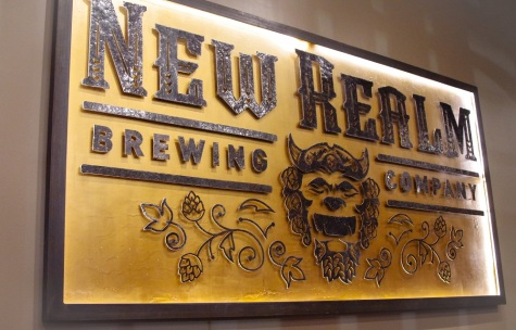 Gorgeous signage tastefully adorns the walls of the taproom.
