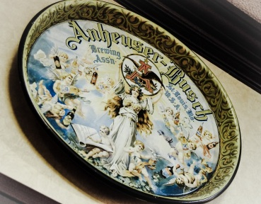 The hallways of TPepin's Hospitality Center are absolutely covered with countless pieces of breweriana like this gorgeous Anheuser-Busch beer tray.