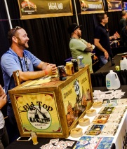 The friendly crew at Big Top Brewing Company was excited to discuss their brews with guests.