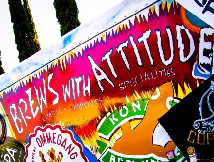 The Brews With Attitude truck greets guests at the entrance with an inventive menu of beer cocktails.