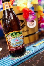 Kona Brewing Co. greeted guests with IPAs and leis.