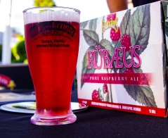 Founders Brewing Co. brought the perfect beer for a warm day, Rubaeus Raspberry Ale.