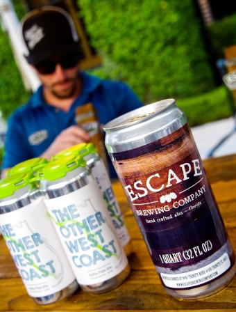 Escape Brewing Company was proudly reppin' The Other West Coast IPA at their tent.