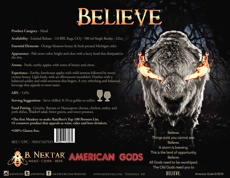 B  Nektar Introduces American Gods Branded Line of Craft