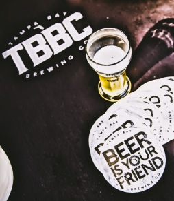"""Beer is Your Friend."" Tampa Bay Beer Co. knows things. Brett Farmhouse Saison in the glass."