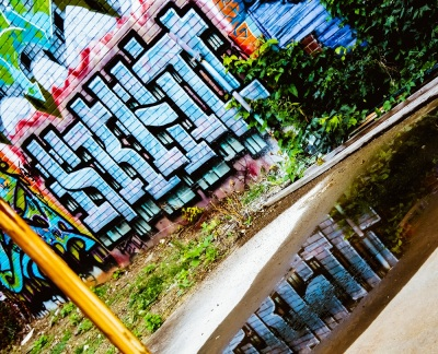 The building's of Braddock now serve as a canvas for elaborate works of graffiti.