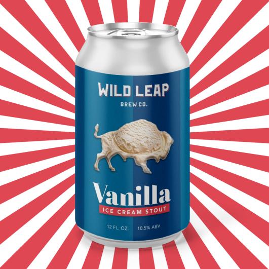 Wild Leap Vanilla Ice Cream Stout - Single Can