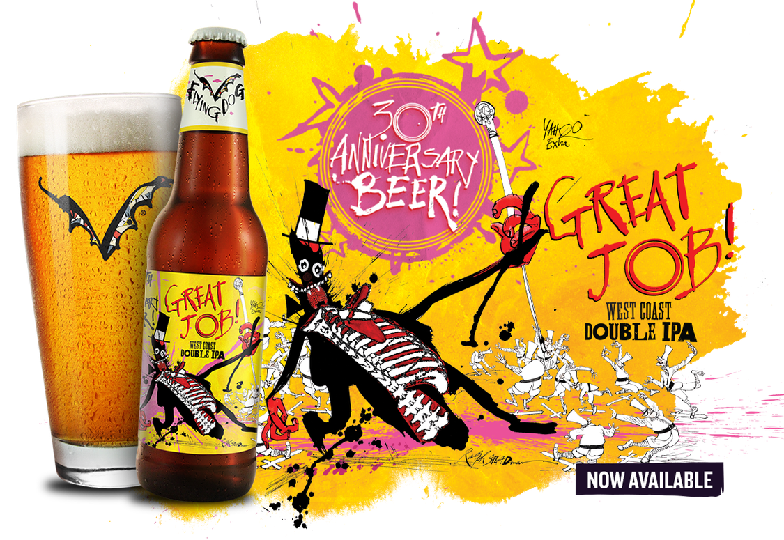 Flying Dog Celebrates 30 Years with Release of Great Job! West Coast DIPA |  Mashing In